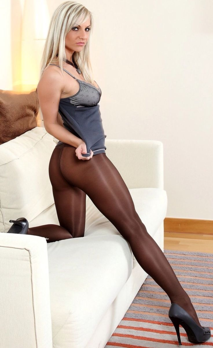 Lovers smoking hot pantyhose blonde