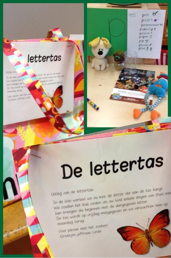 De lettertas is een ouderroutine die ouders en kinderen stimuleert in de thuissituatie op zoek te gaan naar woorden met een bepaalde beginletter / klank.  #educatiefpartnerschap #succesmetouders