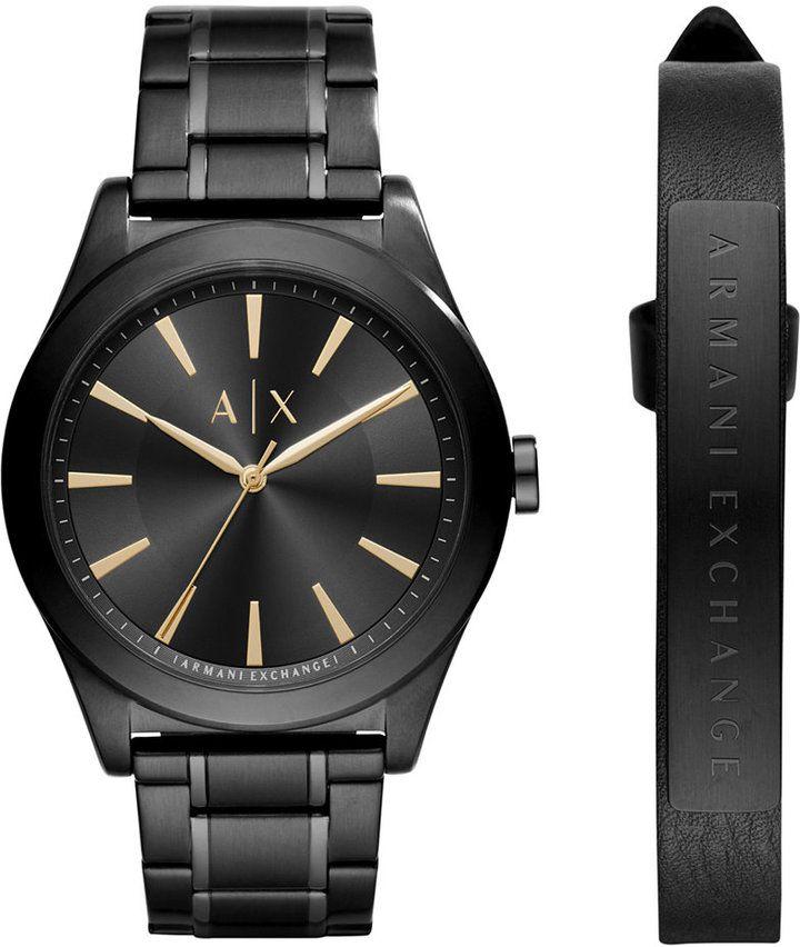 AX Armani Exchange Men's Stainless Steel Bracelet Watch 44mm AX7102 Gift Set #affiliate