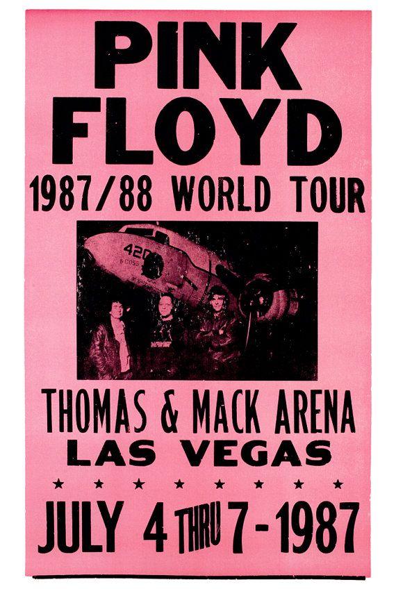 Pink Floyd Concert Poster, Las Vegas, 87-88 World Tour, July 4th 1987