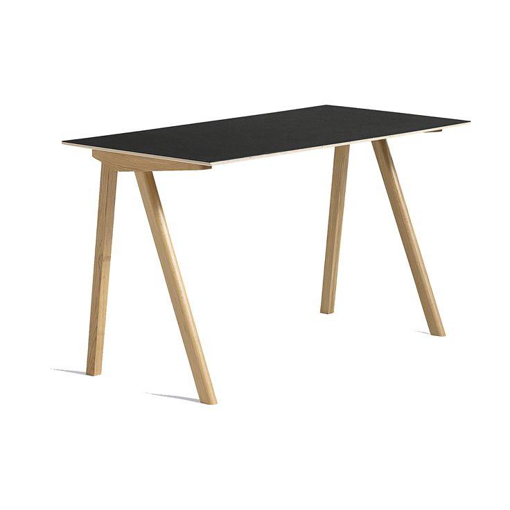 CPH 90 skrivbord, ek/svart i gruppen Möbler / Bord / Skrivbord hos RUM21.se (132050)