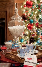 elegant Hot Cocoa station: Christmas Time, Hot Cocoa Bar, Chocolates Bar, Holidays, Red Christmas, Hot Chocolates, Marshmallows, Christmas Trees, Apothecaries Jars