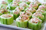 Spicey Crab-Stuffed Cucumber Cups
