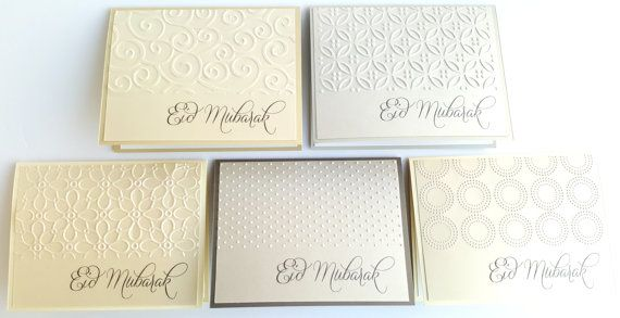 Check out this item in my Etsy shop https://www.etsy.com/ca/listing/454373496/set-of-5-eid-mubarak-cards-handmade