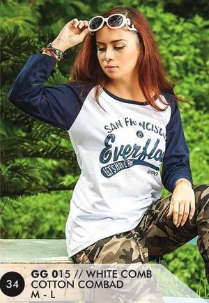 Kaos Long T Shirt Wanita Casual dan Trendy [GG 015] (Brand Everflow) Free Ongkir