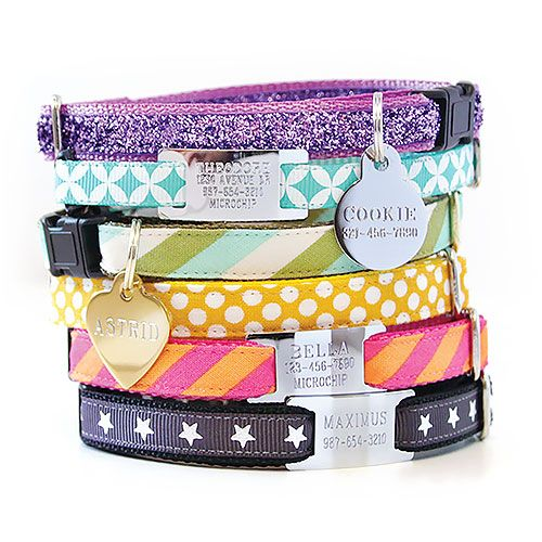 Personalized Cat Collars and ID Tags by Made by Cleo