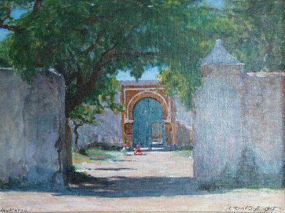 Alexandre Roubtzoff - Oeuvre Orientaliste : La Marsa, Tunisie, 1915