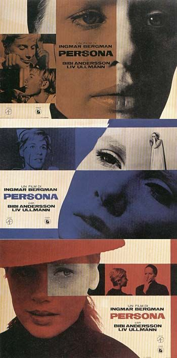 Persona (1966) A nurse is hired to take care of an actress, who during a stage performance suddenly refuses to speak. Psychological drama. Starring: Liv Ullmann, Bibi Andersson, Margaretha Krook, Gunnar Bjornstand. Written and directed by Ingmar Bergman.