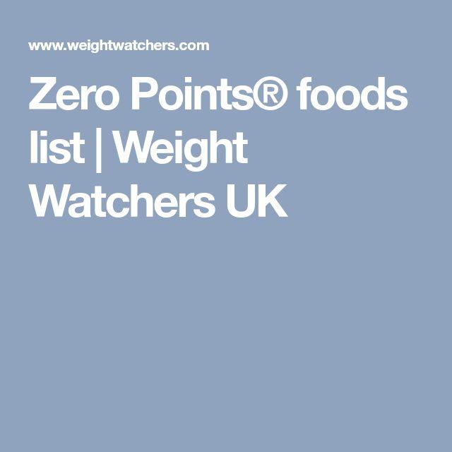Weight Watchers Core Plan Food List Uk