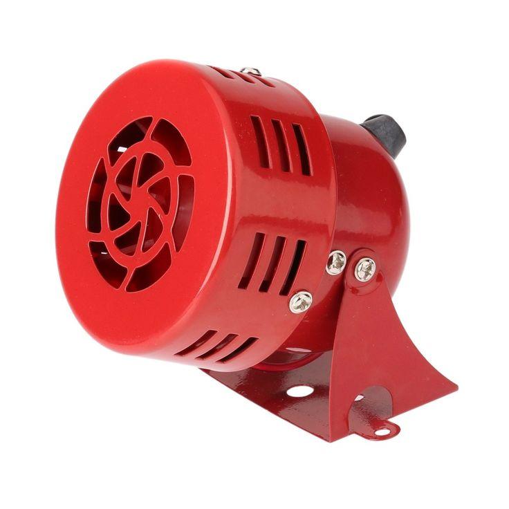 """Alta calidad 12 V 3 """"Automotive Air Raid Siren Cuerno Coche Camión Accionado Por Motor de Alarma Rojo sirena de alarma"""