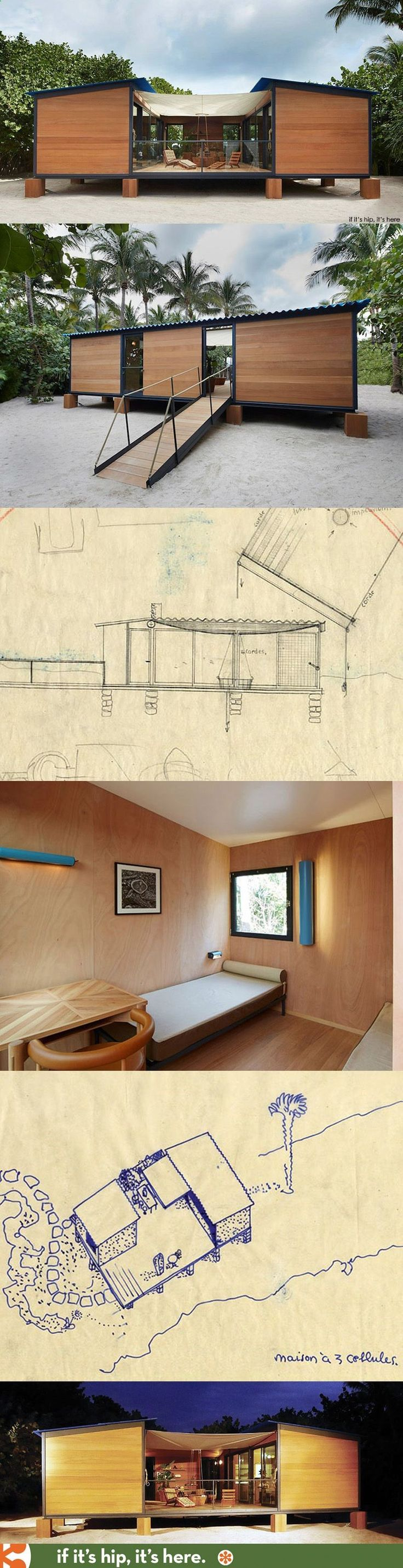 Container House - Originally conceived in 1934, Charlotte Perriands chic beach front holiday home, La Maison au bord de leau, was recreated by Louis Vuitton for Design Miami using the original archival sketches. Who Else Wants Simple Step-By-Step Plans To Design And Build A Container Home From Scratch?