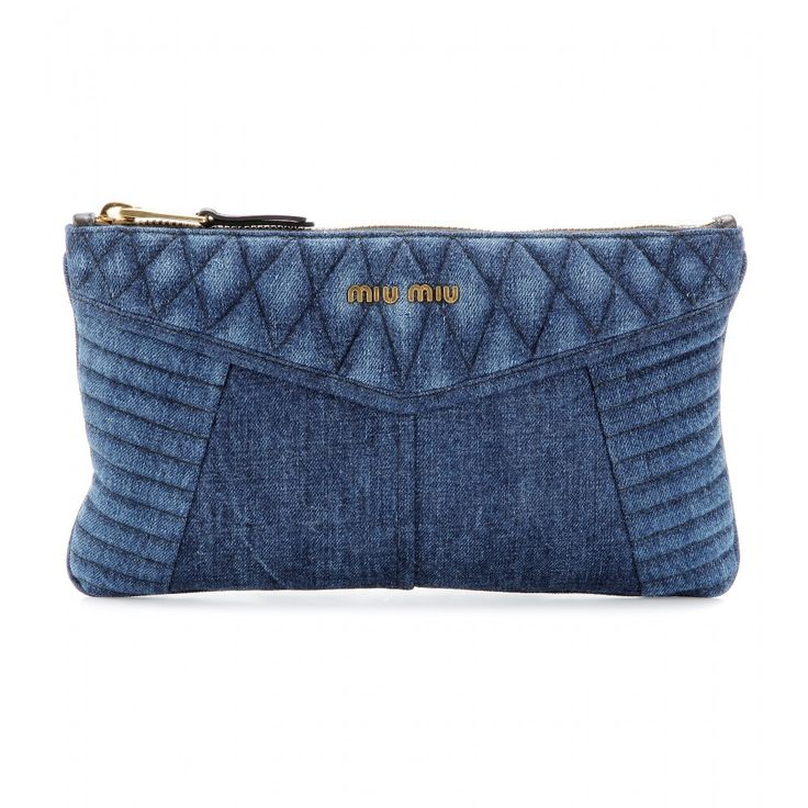 mytheresa.com - Denim clutch - clutch bags - bags - Luxury Fashion for Women / Designer clothing, shoes, bags