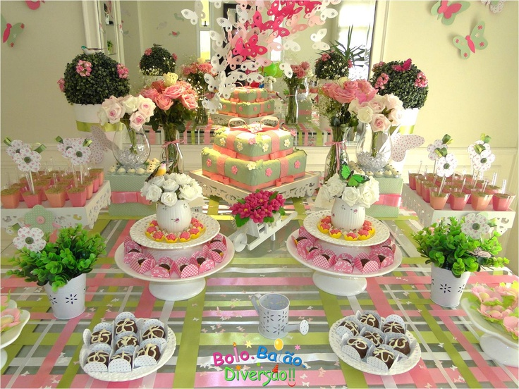 Jardim: Ideas For, Garden Party, For Parties, Table, Children'S Parties, Party Ideas