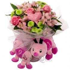 Baby girl flowers delivery Gold Coast - pink Flowers