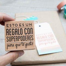Sello – Esto es un regalo con superpoderes para que te guste - Scrapbook