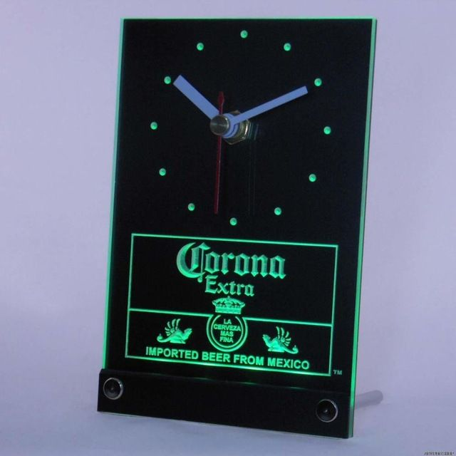 Special price tnc0097 Corona Mexican Beer 3D LED Table Desk Clock just only $14.49 with free shipping worldwide  #clocks Plese click on picture to see our special price for you