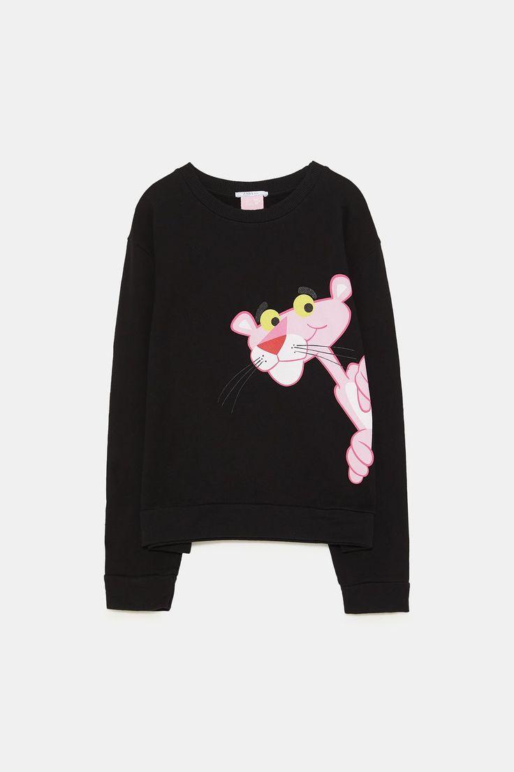 PINK PANTHER® SWEATSHIRT from Zara | Stylish hoodies ...