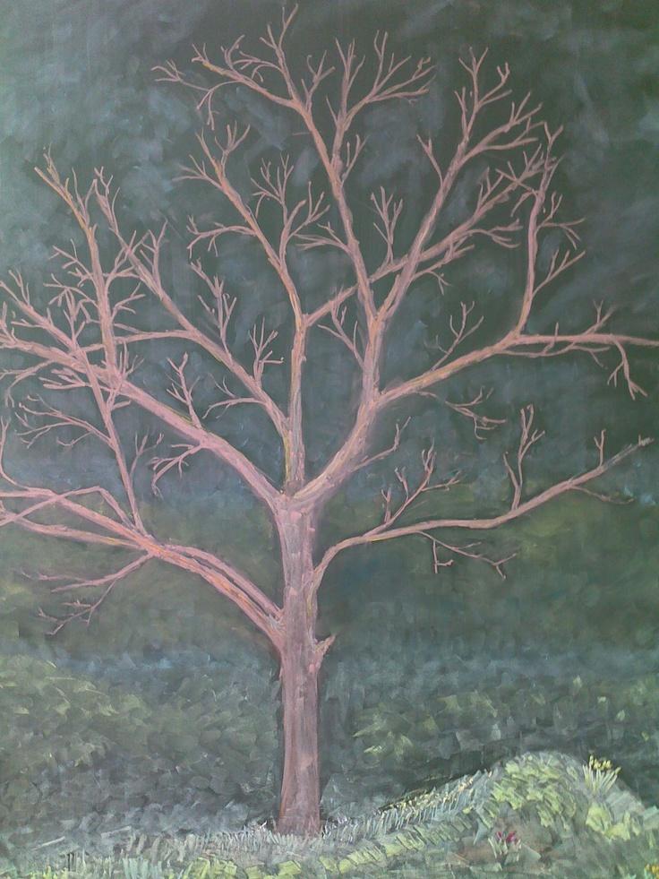 Spring tree ~ chalkboard drawing