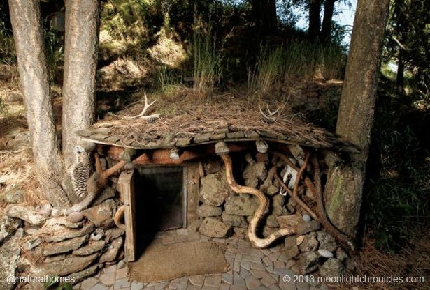 This is Dan Price's tiny underground home in Joseph, Oregon, USA. The interior, slightly more egg shaped than round, is only 8ft (2.4m) wall to wall. Visit www.naturalhomes.org/underground-home.htm to see more of the tiny home and an interview with Dan.