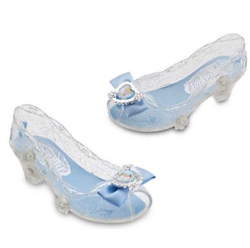 NEW Disney Store Princess Cinderella Costume Light Up Dress Shoes Girls Pretend