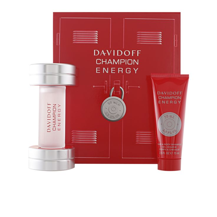 Davidoff Champion Energy 2 Piece Set Champion Energy Set 2 Piece. edt Spray 50ml + Hair & Body Shampoo 75ml - See more at: http://perfumesdepot.co.uk/davidoff-champion-energy-2-piece-set.html#sthash.z6QywpND.dpuf