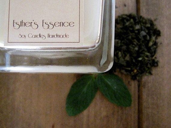 Candela di Soia Menta Tè verde Amanar di EstherEssenceCandles