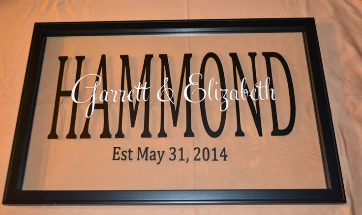 Personalized 22 Quot X14 Quot Wood Black Floating Glass Frame With