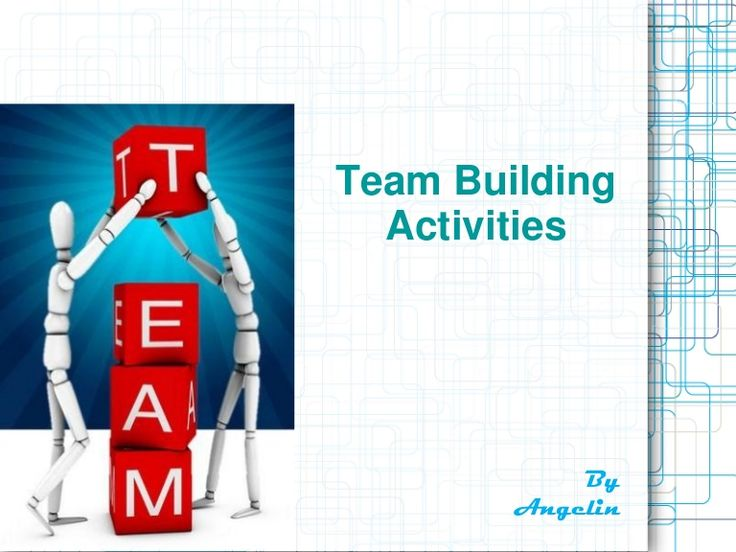 Team Building Activities ~ by Angelin R via Slideshare