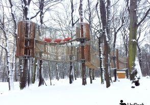 3D bludiště v Oseku v zimě