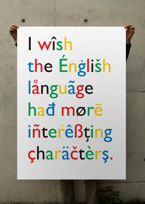 would make life more complicated: Interesting Character, Books Covers, English Language, English Posters, Funny, Typographic Posters, Graphics, Alphabet, Typography