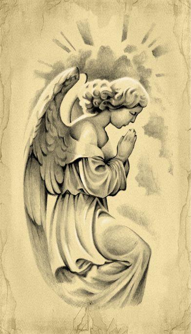 Prayer of an Angel Tattoo Design