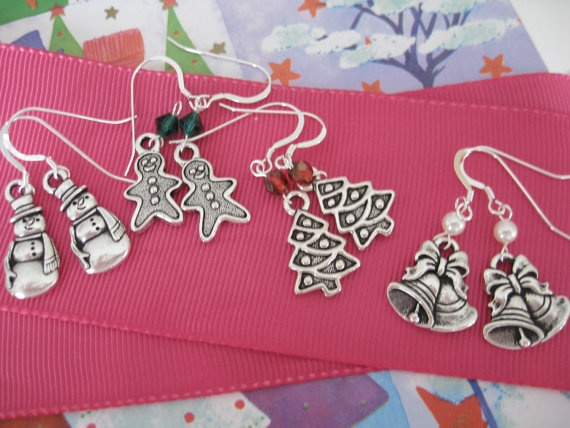 Christmas Earrings Stocking Stuffers by maylui on Etsy, $8.00