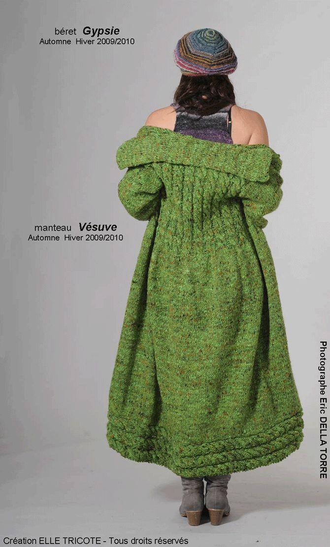 Manteau en laine de chez Elle Tricote... ça, c'est pas du tricot de mamie ! ^^