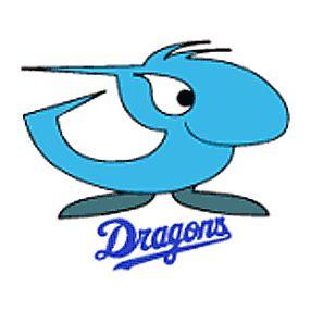 Chunichi Dragons. Cutest baseball team logo ever, although all the Japanese teams have similarly kawaii logos.