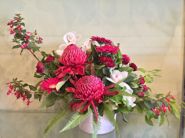 Lovely arrangement by Jacinta's Flower Studio