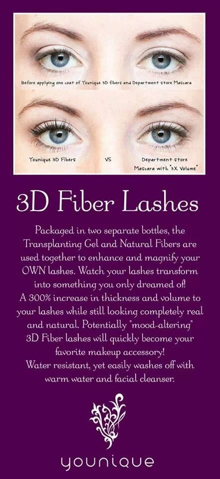 Younique 3-D Fiber Lash Mascara!!! 300% increase in eyelash volume using a two step wand kit of gel & green tea fibers! Www.youniqueproducts.com/Stefanie14