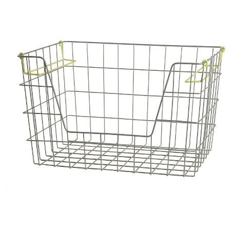 Wire Stackable Bin Large Lime - Pillowfort™ : Target