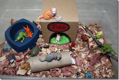 Pet Sensory Tub - pinned by #PediaStaff.  Visit http://ht.ly/63sNt for all our pediatric therapy pins