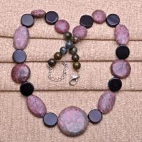 Beautiful Beaded Multiple Gemstone Necklace #0698