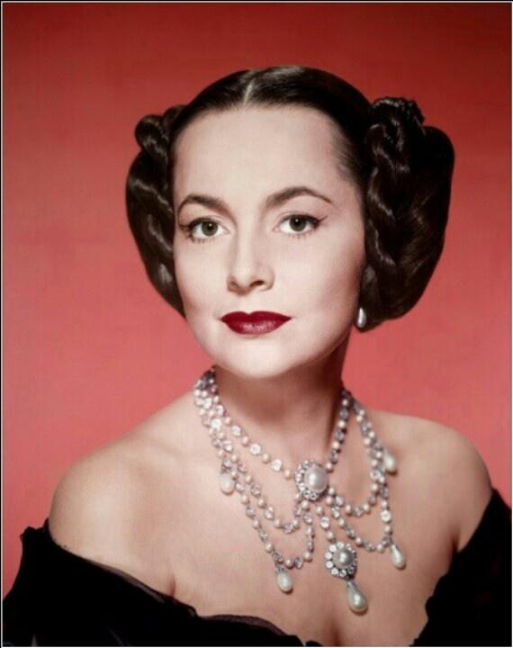 Olivia de Havilland in The Heiress wearing Joseff Hollywood Jewelry