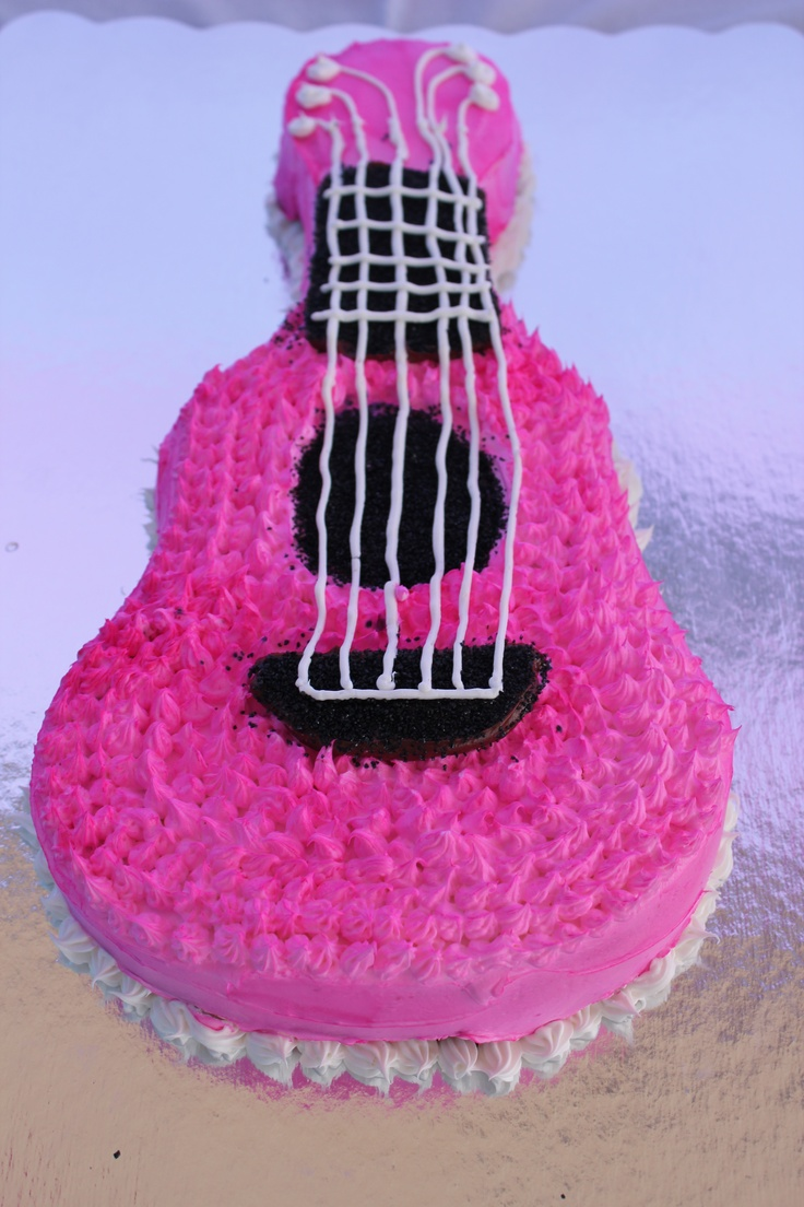 Guitar cake made by us