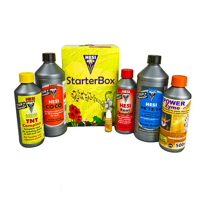 Hesi Starter Kits:  Hesi Starter Kits represent fantastic value for money – all the required nutrition for your plants to thrive in one box!