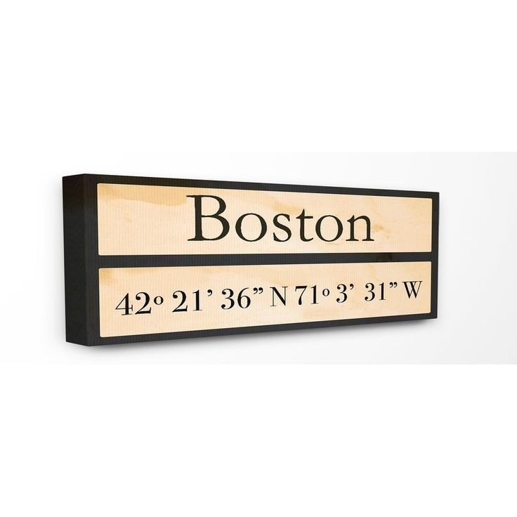 Stupell Industries Coordinates Boston Wall Art -