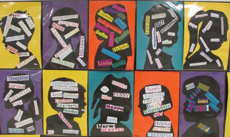 Great for teaching Characterization in reading unit. Have students create words about themselves with silhouettes or portraits!