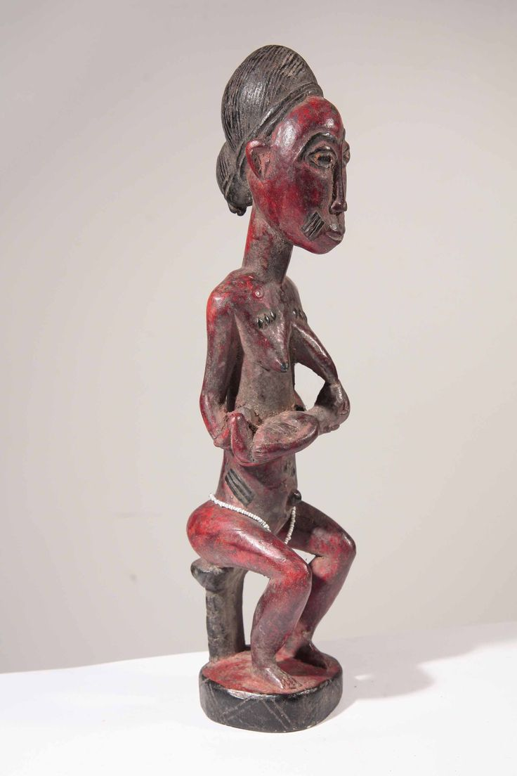 Statue africaine fetiche maternité Baoule de Cote d Ivoire 2-2013-192