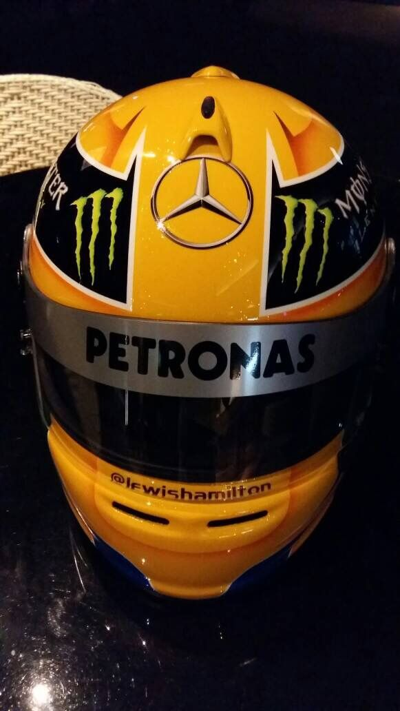 F1 Helmet 4 Sale. DM for arrangement #F1 #Helmet #lewishamilton #fia #mercedes #sale #collection #collector #formula1