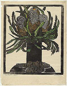 Margaret Preston 'West Australian banksia' c.1929 woodblock print National Gallery of Australia © Margaret Preston. Licensed by VISCOPY, Aus...
