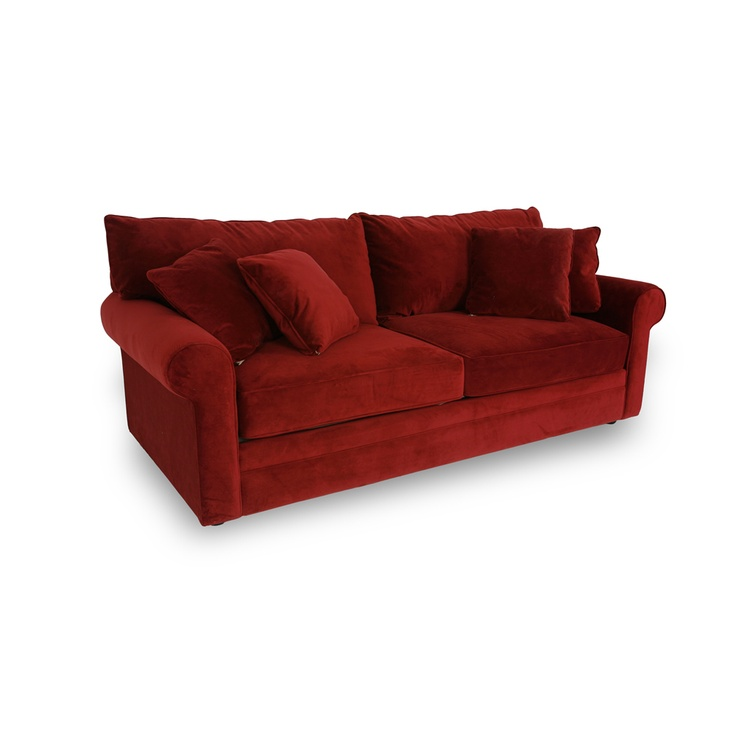 Belsire berry sofa living rooms pinterest pine for Red velvet sectional sofa