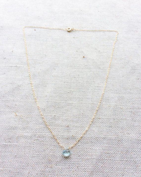 Aquamarine Necklace  Aquamarine Jewelry  от SforSparkleShop