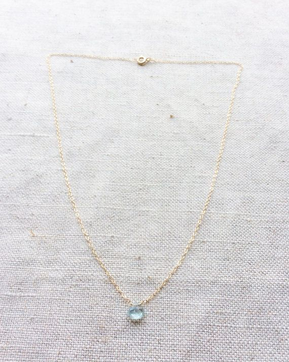 Aquamarine Necklace Aquamarine Jewelry от SforSparkleShop
